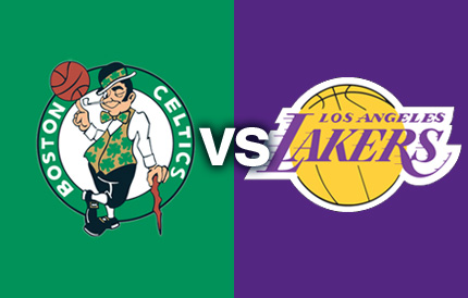 Image result for celtics/lakers logos